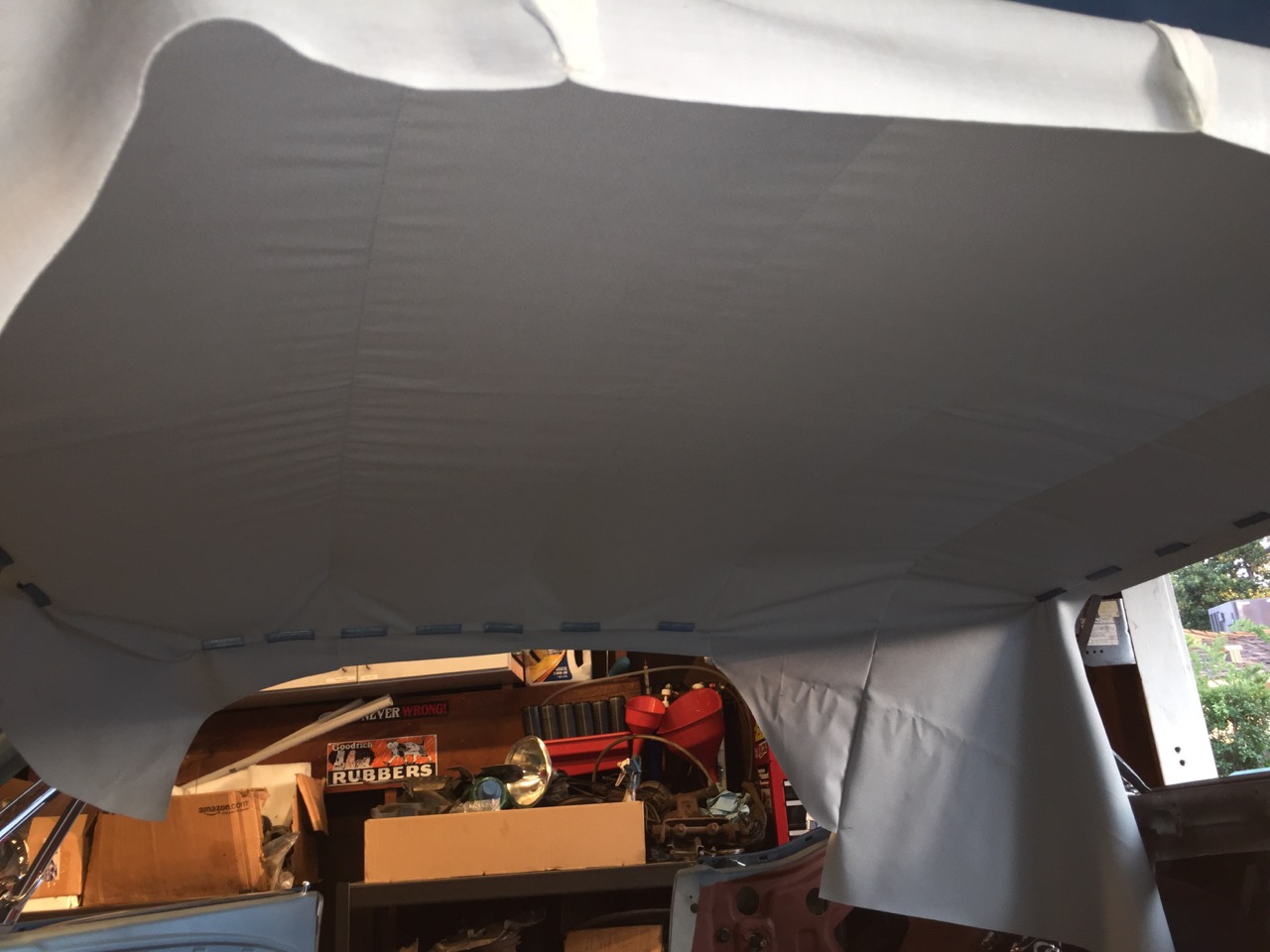 headliner test fitted mustang 1966